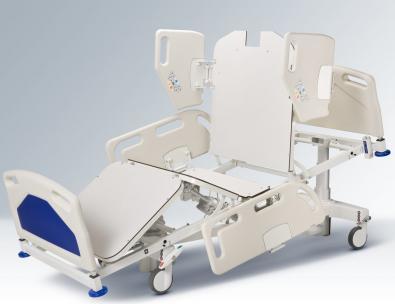 Łóżko szpitalne Famed Nano – Pozycja krzesła kardiologicznego